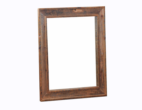 Dresser Mirror manufactured in the USA with reclaimed wood by reclaimed wood designs