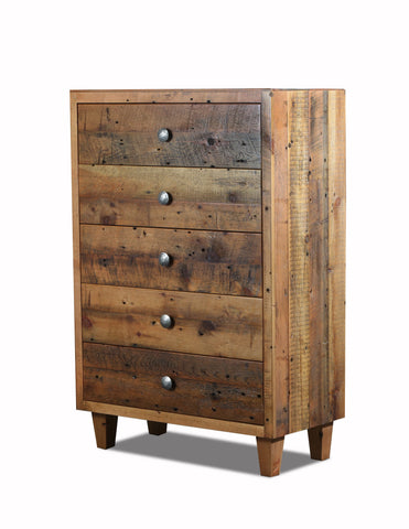 3 drawer chest manufactured in the USA with reclaimed wood by reclaimed wood designs