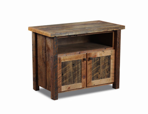 Small TV Stand manufactured in the USA with reclaimed wood by reclaimed wood designs