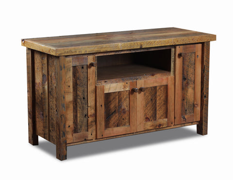"65"" TV Stand,manufactured in the USA with reclaimed wood by reclaimed wood designs"