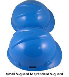 MSA Cap Style Large Jumbo Safety Hats with Fas-Trac Suspensions Blue, Head - Signsdirect247.com