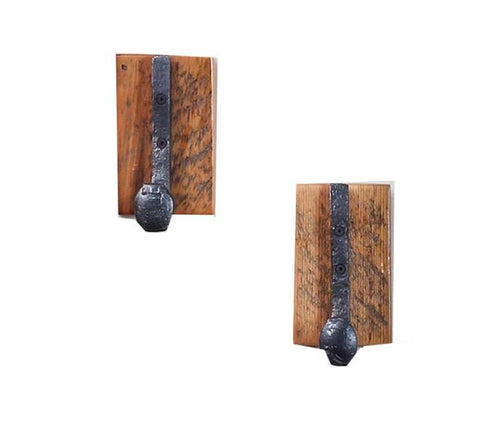 2 Pack Antique railroad spike coat hook single  manufactured in the USA with reclaimed wood by reclaimed wood designs