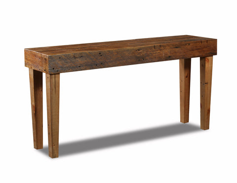 "Standard Sofa table 60"" manufactured in the USA with reclaimed wood by reclaimed wood designs"