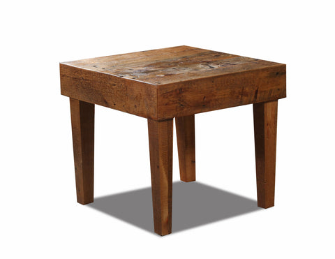 Standard End table manufactured in the USA with reclaimed wood by reclaimed wood designs