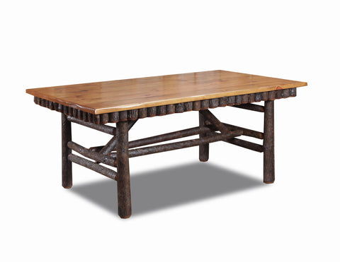 10' dining table w/ molesworth trim detail manufactured in the USA with reclaimed wood by reclaimed wood designs