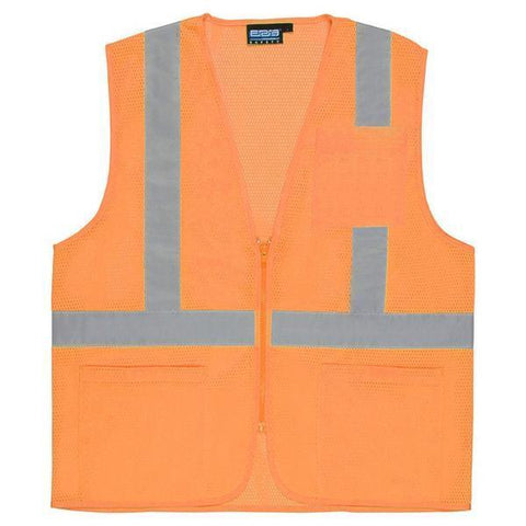 Custom Safety Vests | Safety Vest | S363P | Hi Viz Orange  S363P | Class 2 | Economy | X-Large, Safetyvests - Signsdirect247.com