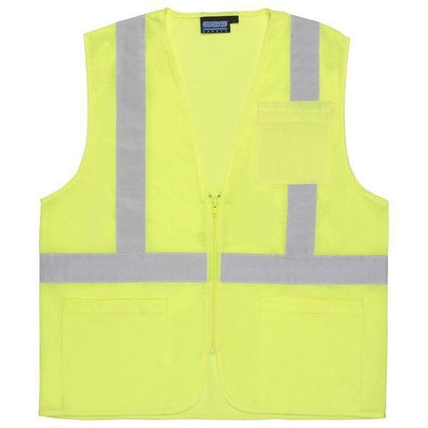 Custom Safety Vests | Safety Vest | S363P | Hi Viz Lime  S363P | Class 2 | Economy | X-Large, Safety Apparel - Aware Wear & Hi Viz Ts - Signsdirect247.com