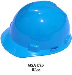 MSA V-Gard Cap Style Safety Hats with Fas-Trac Suspensions Blue