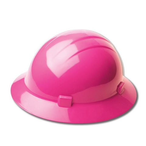 Head Protection Americana Full Brim Mega Ratchet Hi Viz Pink, Head Protection - Signsdirect247.com