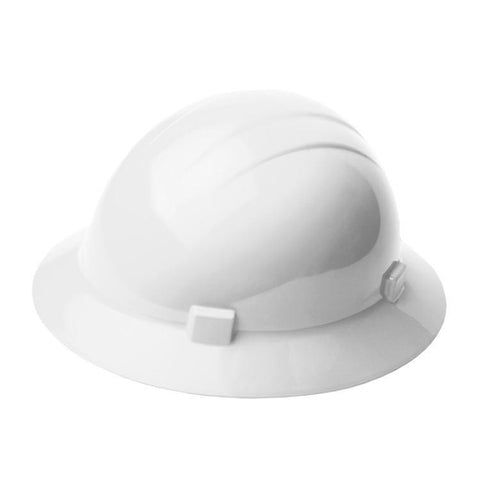 Head Protection Americana Full Brim Mega Ratchet White, Head Protection - Signsdirect247.com