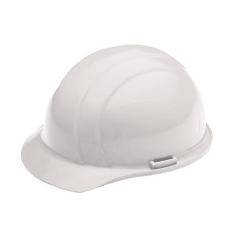 Americana 4 point Mega Ratchet White Hard Hat Custom Hard Hat printed with your logo, Head Protection - CustomSafetyVests.com