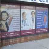 One-Way Window Perforated white vinyl printed in full color, Signs and Banners - Signsdirect247.com