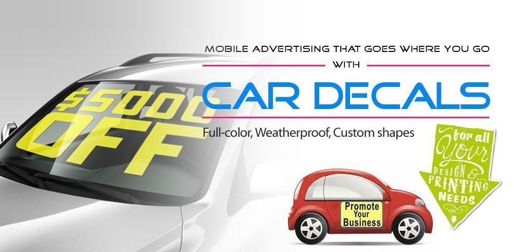 Car Decals, car magnets, vehicle wraps