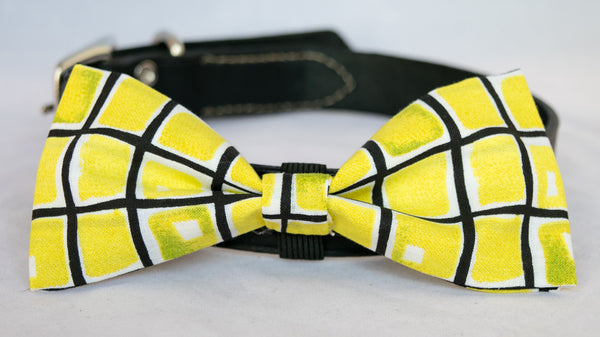 Mellow Yellow Dog Bow Tie