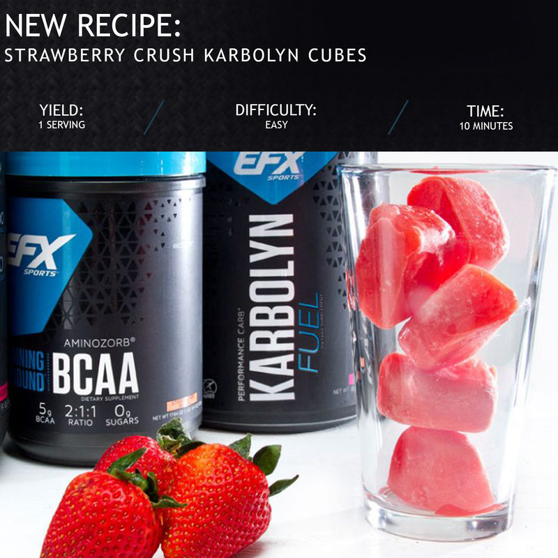 STRAWBERRY CRUSH BCAA KARBOLYN ICE CUBES RECIPE