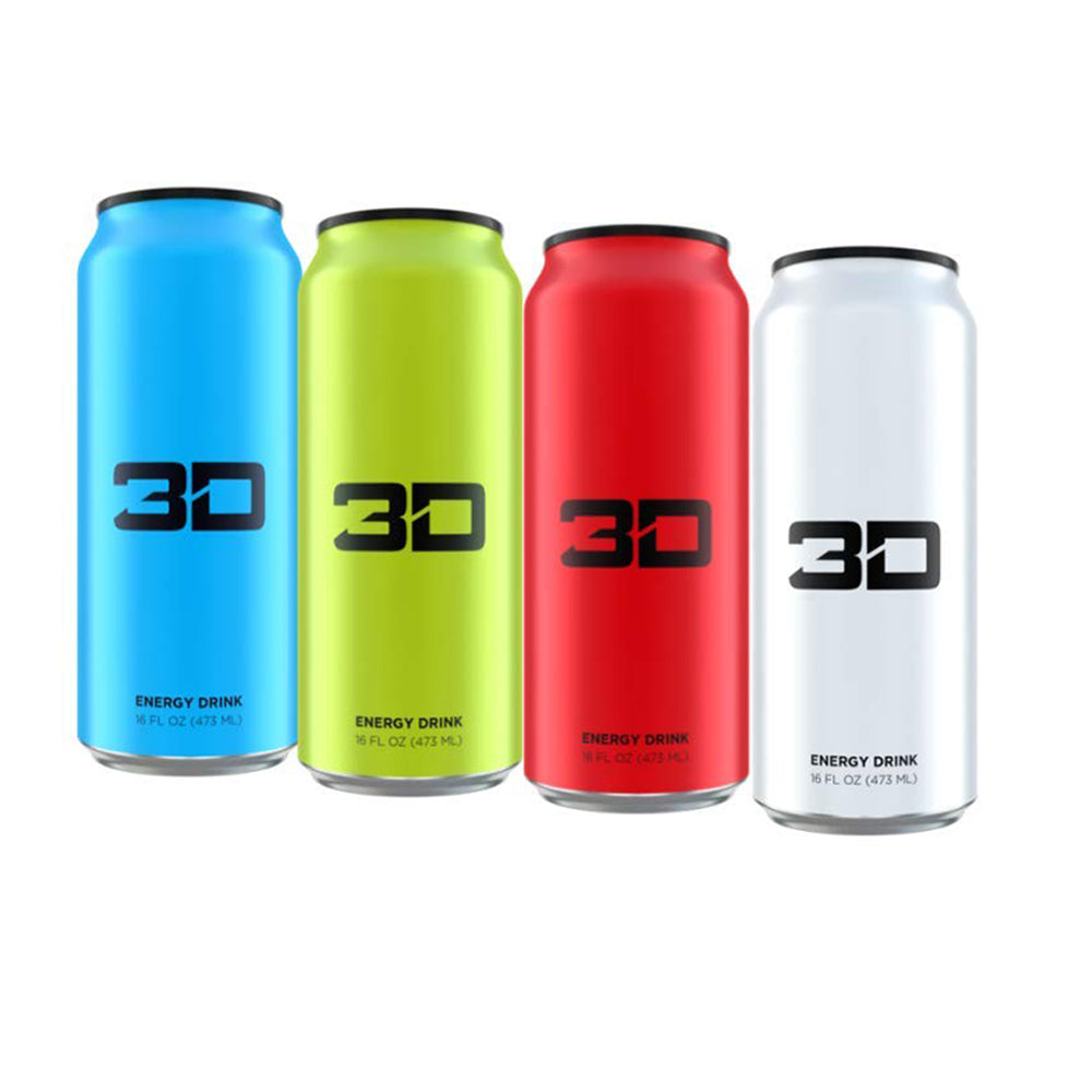 Shop 3D Energy Drink, Variety Pack 2, 16 fluid ounce (4 pack) online  sports-nutrition-endurance-and-energy-drinks