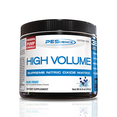 Shop PEScience High Volume, Blue Frost, 18 Serving online  sports-nutrition-pre-workout-powders