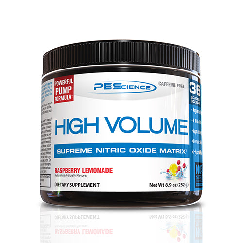Shop PEScience High Volume, Raspberry Lemonade, 18 Serving online  sports-nutrition-pre-workout-powders