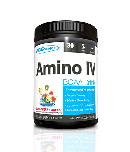 Shop PEScience Amino IV, Strawberry Breeze, 30 Serving online  amino-acids