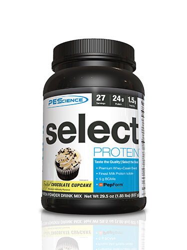 Shop PEScience Select Protein, Frosted Chocolate Cupcake, 27 Serving online  sports-nutrition-protein-powder-blends
