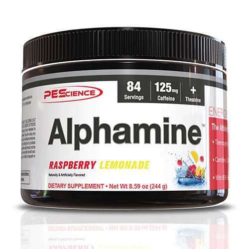 Shop PEScience Alphamine, Raspberry Lemonade, 84 Serving online  sports-nutrition-nitric-oxide-boosters