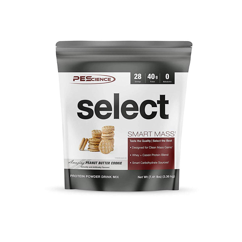Shop PEScience  Select Smart Mass, Peanut Butter Cookie, 28 Serving online  sports-nutrition-weight-gainers