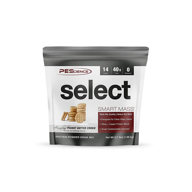 Shop PEScience  Select Smart Mass, Peanut Butter Cookie, 14 Serving online  sports-nutrition-weight-gainers