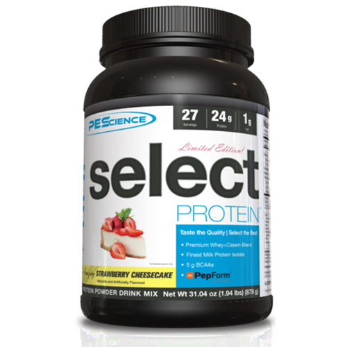 Shop PEScience Select Protein, Strawberry Cheesecake, 27 Serving online  sports-nutrition-protein-powder-blends