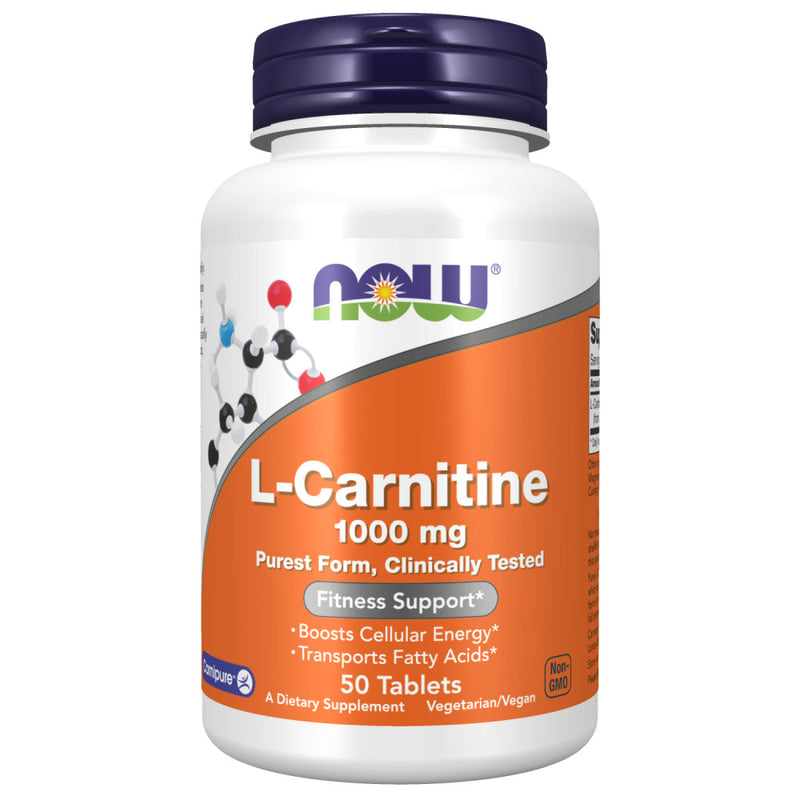 Shop NOW Foods L-Carnitine Tartrate, 50 Tablet (RH) online  sports-nutrition-l-carnitine-supplements