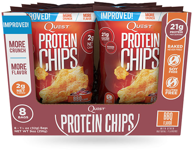 Shop Quest Nutrition Protein Chips, BBQ, 8 Count online  sports-nutrition-protein-bars