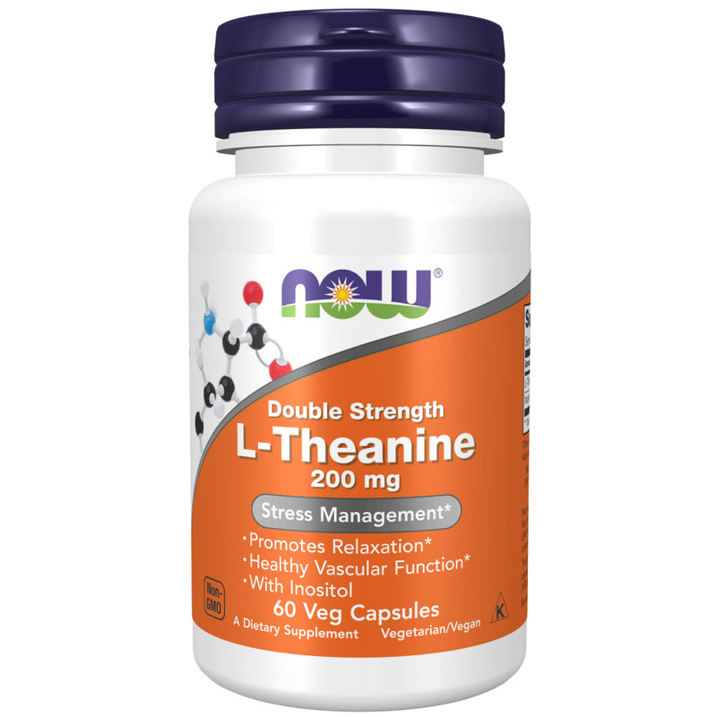Shop NOW Foods L-Theanine 200 mg, 60 Vegetable Capsule (RH) online  multiple-vitamin-mineral-combinations