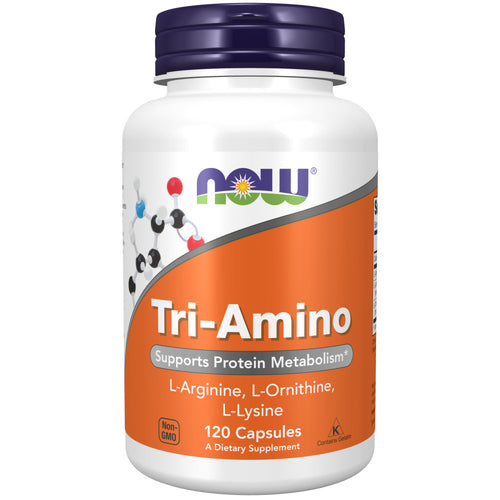 Shop NOW Foods Tri-Amino, 120 Capsule (MB) online  branched-chain-amino-acids-nutritional-supplements