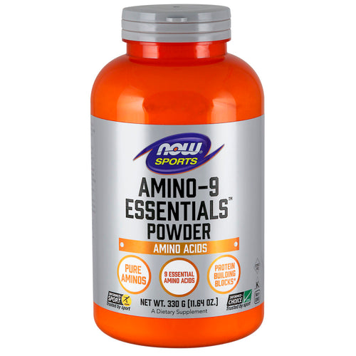 Shop NOW Foods Amino-9 Essentials Powder, 330 Gram (RH) online  branched-chain-amino-acids-nutritional-supplements