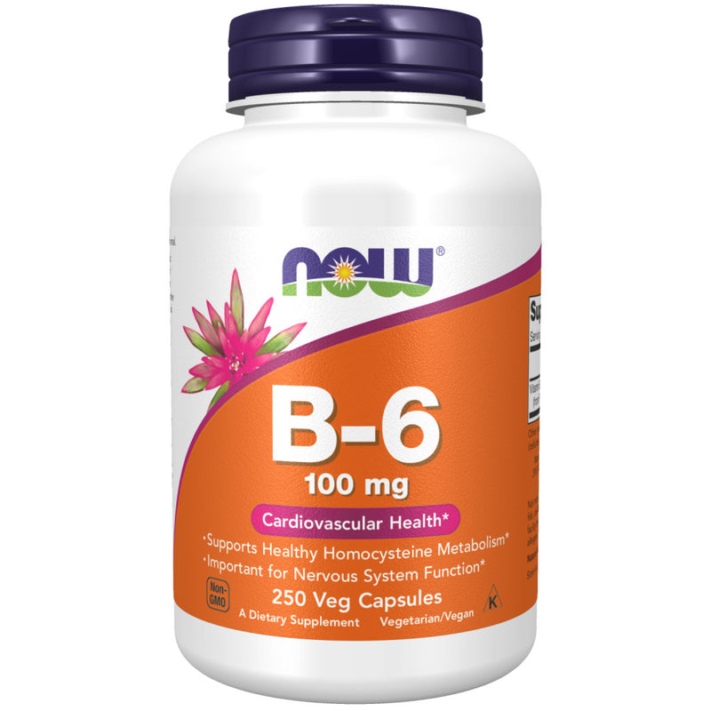 Shop NOW Foods Vitamin B-6 100 mg, 250 Capsule (RH) online  vitamin-b6-pyridoxal-phosphate