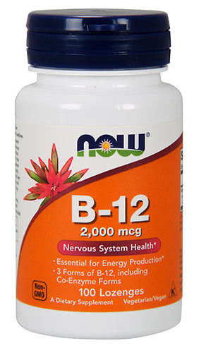 Shop NOW Foods B-12 2,000 mcg, 100 Lozenge online  vitamin-b