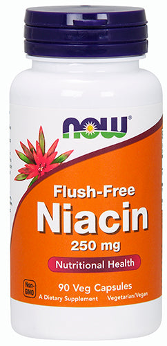 Shop NOW Foods Flush-Free Niacin - 250 mg, 90 Vegetable Capsule online  vitamin-b
