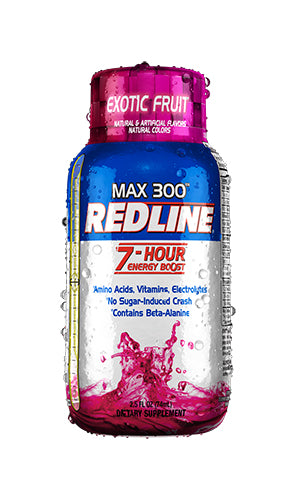 Shop VPX Redline (MX300) Max 300 Redline Shot, 2.5 Fluid Ounce Bottle (12 Pack), Exotic Fruit online  sports-nutrition-endurance-and-energy-drinks
