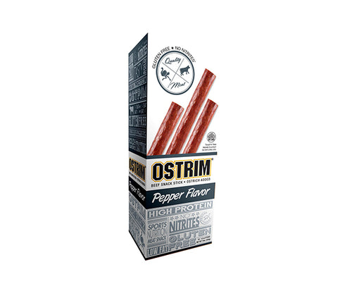 Shop Ostrim Beef & Ostrich Snack Stick, Pepper, 10 Count online  jerky-and-dried-meats