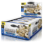 Shop MuscleTech Mission1, Cookies & Cream, 12 Count online  sports-nutrition-protein-bars