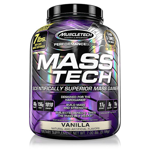 Shop MuscleTech Mass Tech, Vanilla, 7 Pound online  sports-nutrition-weight-gainers