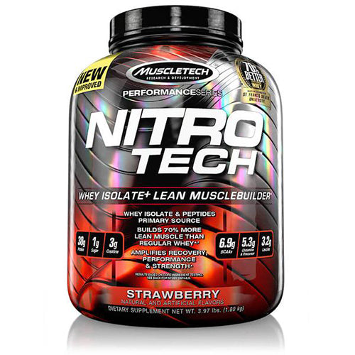 Shop MuscleTech Nitro-Tech, Strawberry, 4 Pound online  sports-nutrition-whey-protein-powders