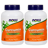 Shop NOW Foods Curcumin Extract 95%, 120 Vegetable Capsule (2 Pack) (RH) online  curcumin-herbal-supplements