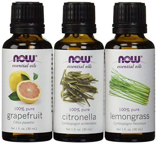 Shop NOW Foods 3-Pack Variety Of Essential Oils, Summer Blend - Citronella, Lemongrass, Grapefruit, 1 Ounce (MB) online  essential-oil-sets