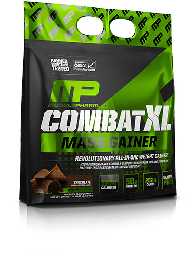 Shop MusclePharm Sport Series Combat XL Mass Gainer, Chocolate, 12 Pound online  sports-nutrition-weight-gainers