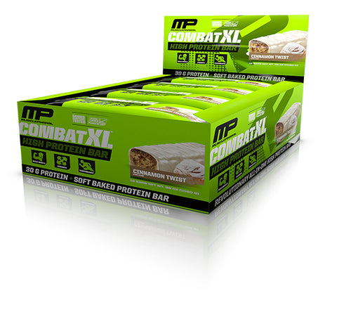 Shop MusclePharm Combat XL, Cinnamon Twist, 12 Count online  sports-nutrition-protein-bars