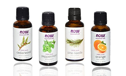 Shop 4-pack Now Foods Essential Oils: Christmas Scent: Peppermint, Cedarwood, Pine, Orange Oil (MB) online  essential-oil-sets