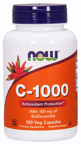 Shop NOW Foods Vitamin C-1000, 100 Vegetable Capsule online  vitamin-c
