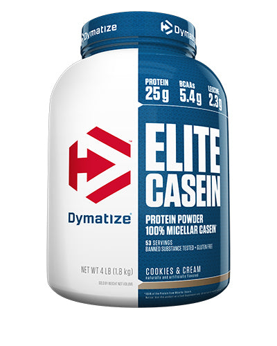 Shop Dymatize Casein, Cookies & Cream, 4 Pound online  sports-nutrition-casein-protein-powders