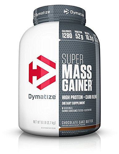 Shop Dymatize  Super Mass Gainer, Chocolate Cake Batter, 6 Pound online  sports-nutrition-weight-gainers