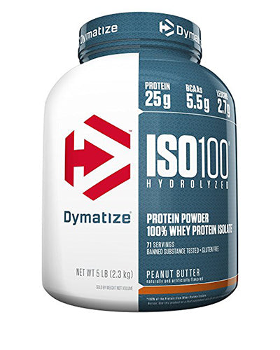 Shop Dymatize Iso-100, Peanut Butter, 5 Pound online  sports-nutrition-whey-protein-isolate-powders
